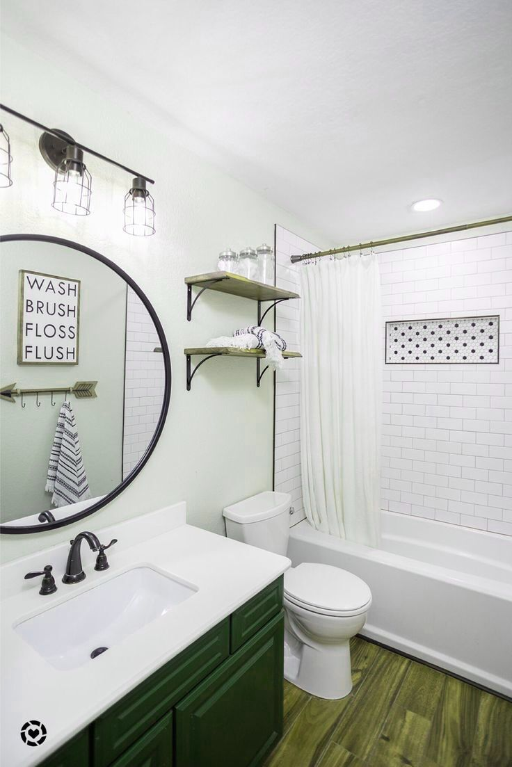 Photo of Home Decor Tips love this modern industrial farmhouse bathroom update. #tile #wo…