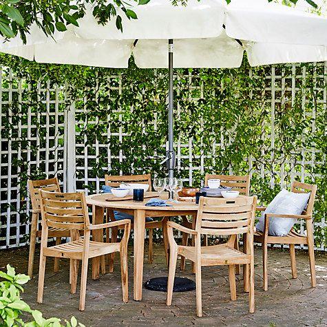 John Lewis Longstock Rectangle Garden Dining Table 6 Stacking