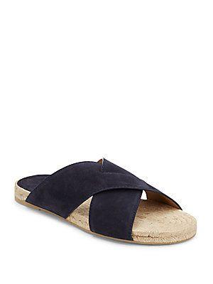 Vince Pete Suede Crisscross Sandals - Coastal - Size 10