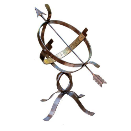 Rome 1324 Wrought Iron Armillary Sphere Sundial Antique