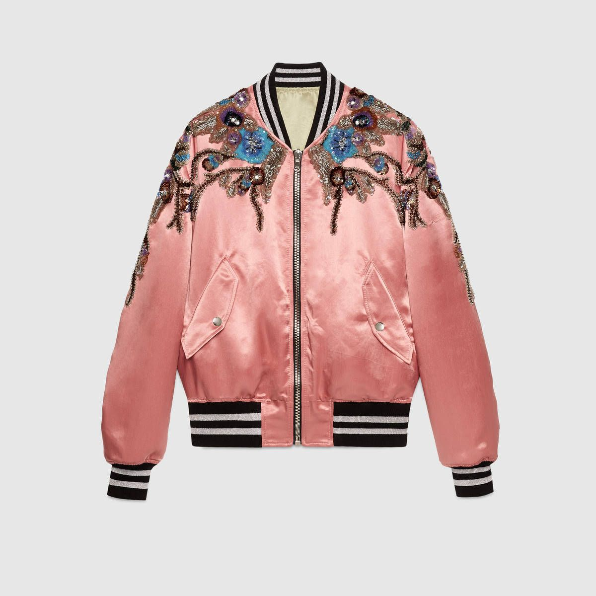 Shop The Reversible Sequin Acetate Bomber By Gucci An Iridescent Acetate Bomber Jacket With Bomber Jacket Fashion Colorful Bomber Jacket Floral Bomber Jacket [ 1200 x 1200 Pixel ]