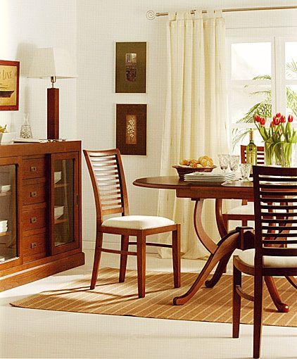 Comedor colonial samarkanda material madera de castano existe la posiilidad de realizar el - El mueble comedores ...
