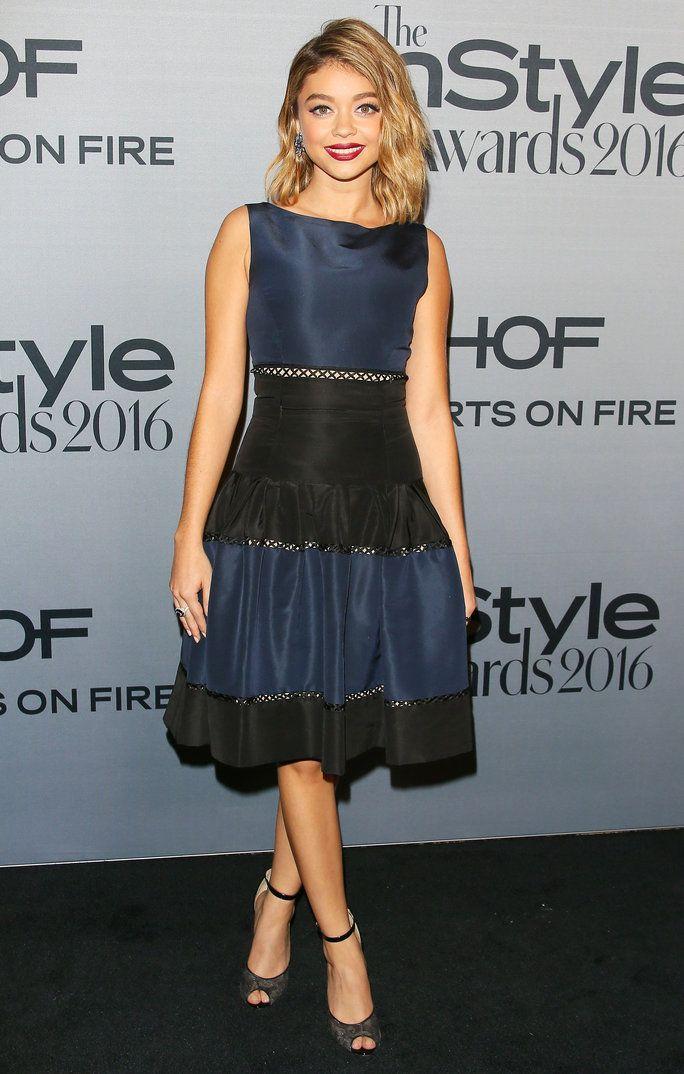 Sarah Hyland In Carolina Herrera At The Instyle Awards