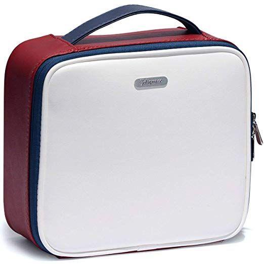 Amazon Com Makeup Bag Cosmetic Leather Organizer Pu Travel Train
