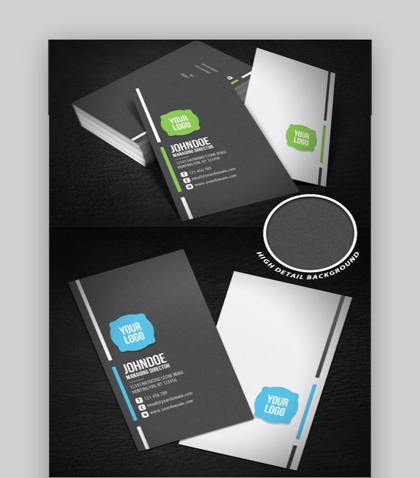 20 Double Sided Vertical Business Card Templates Word Or Rega Vertical Business Card Template Business Card Template Word Business Cards Creative Templates