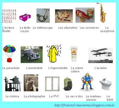 Les Inventions Francaises 2 Frances De 1º De Bachillerato A2 Les Inventions France Fiches Pedagogiques