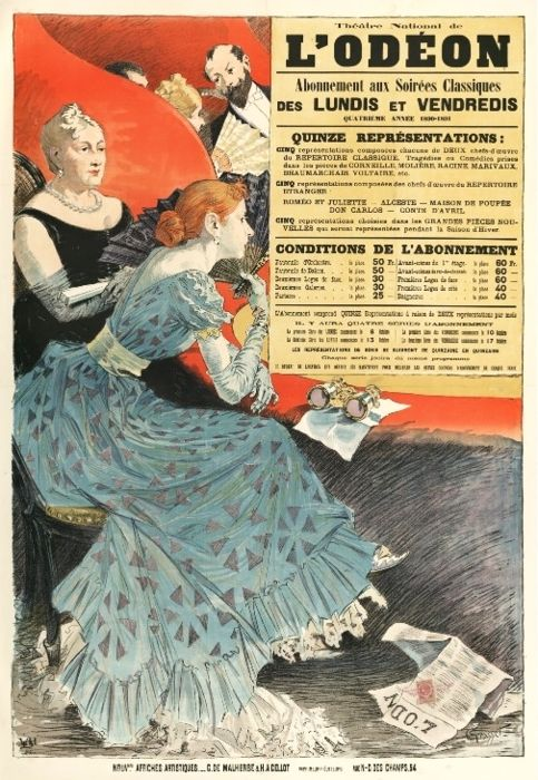 Poster for a french theatre by Eugène Grasset, 1890