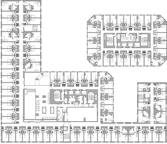 Image Result For Architecture Plans For Students Residence Architecture Plan Hotel Architecture Hotel Plan
