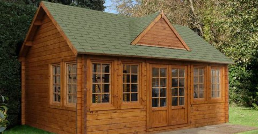 The Charentes is one of the log cabin designs from Buy Log Cabins