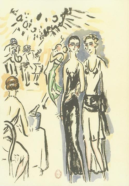 Kees Van Dongen illustration for the novel La Garçonne by Victor Margueritte, 1925