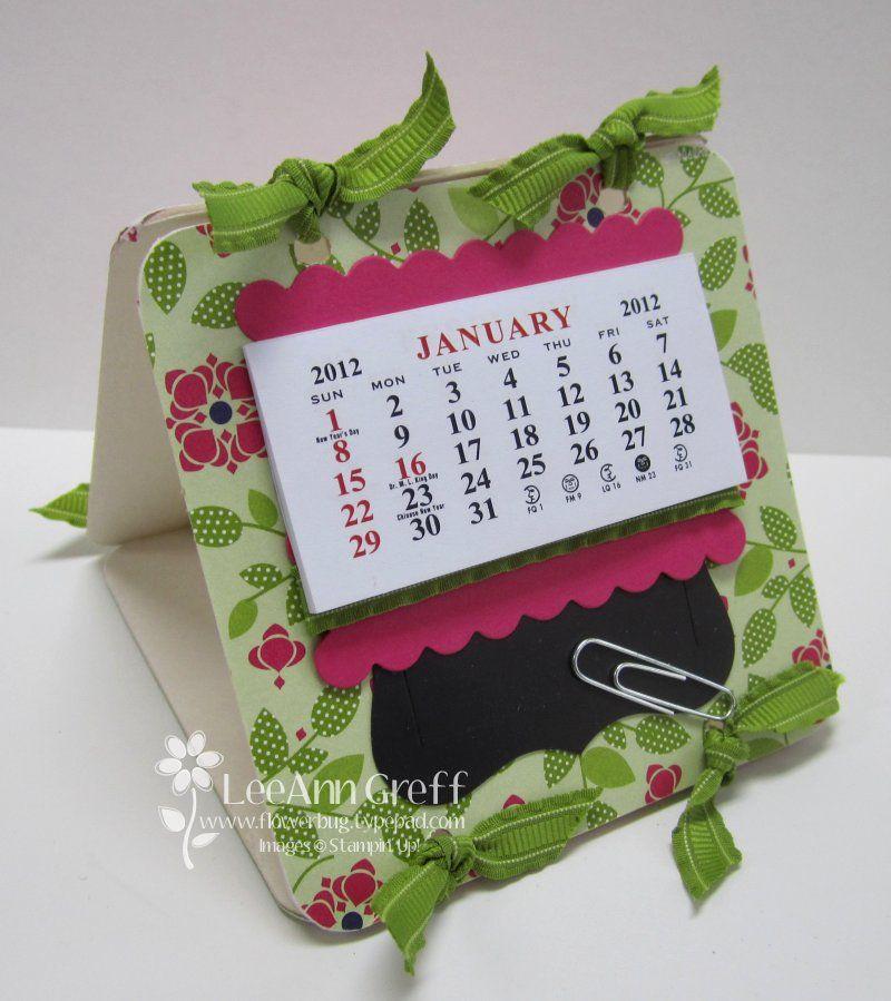 Really cute Calendar and coaster idea from Flowerbug's Inkspot