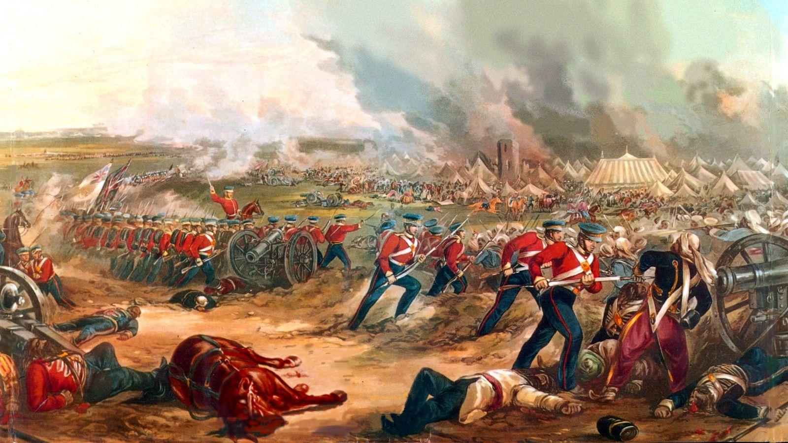 British Conequest Of India Battle Of Ferozeshah 1845