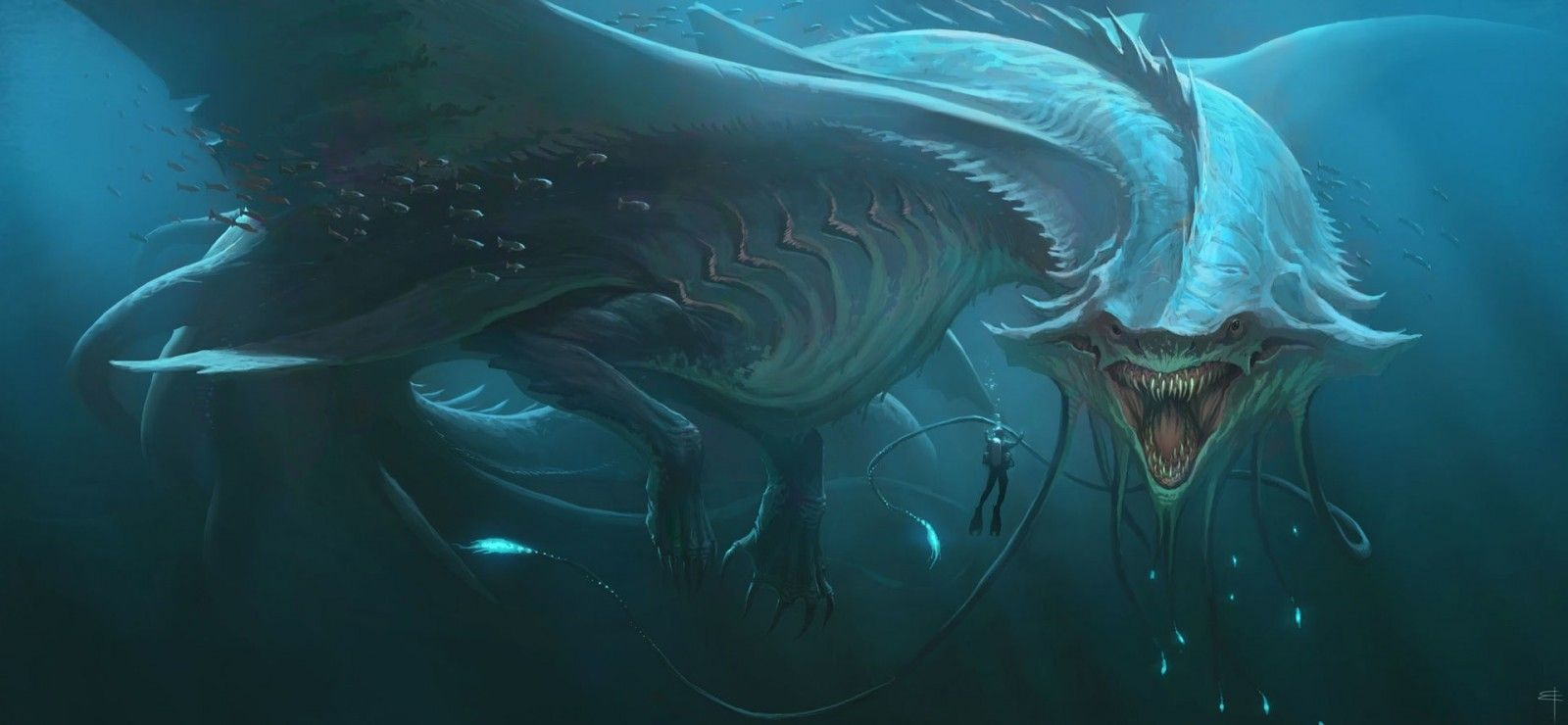 Sea Monster Wallpapers Background Sea Monsters Monster Art Fantasy Creatures