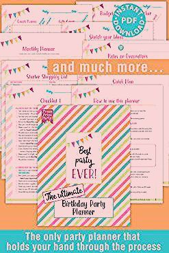 Photo of The Ultimate Birthday Party Planning Checklist Planner – Press Print Party