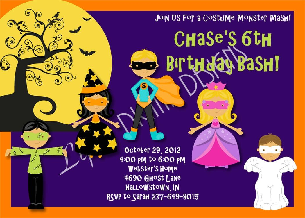 Printable Halloween Invitations For Kids Party Invitation – Halloween Party Invitations for Kids
