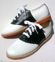 Muffy/'s Classic Black//white leather Saddle Shoes  US Women/'s sizes 5-13 #250