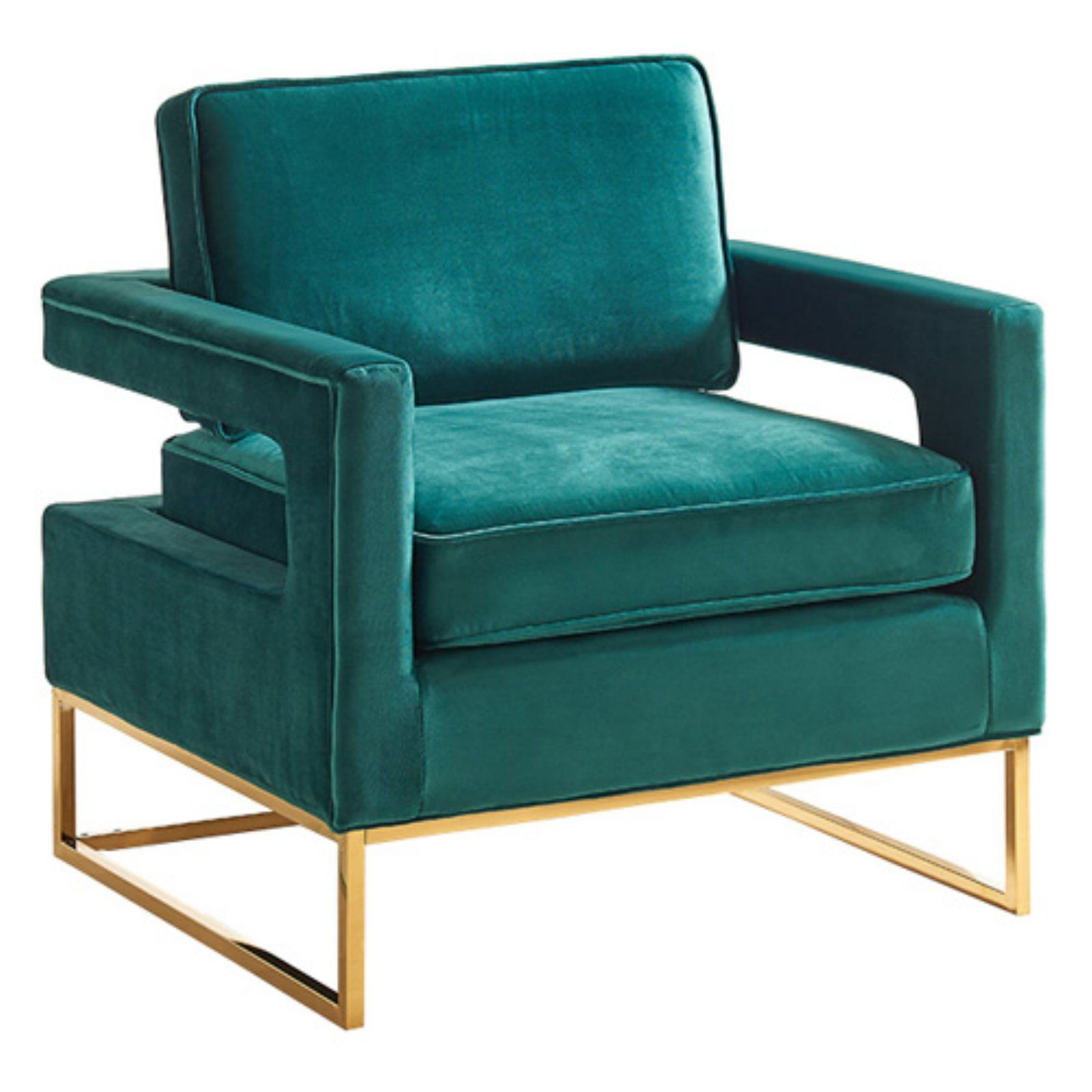 Meridian Furniture Inc Noah Velvet Accent Chair Green