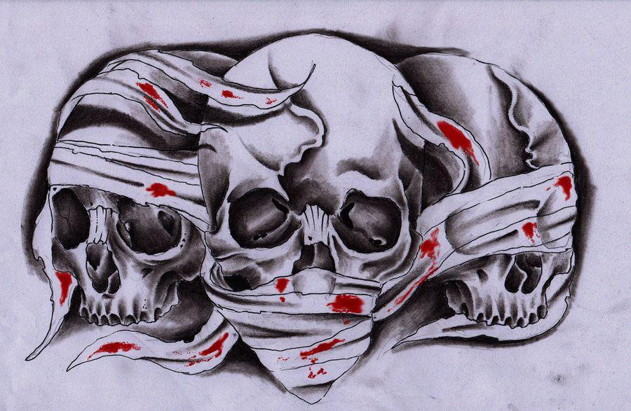 3 Skulls Skulls Drawing Skull Tattoo Design Skull Rose Tattoos