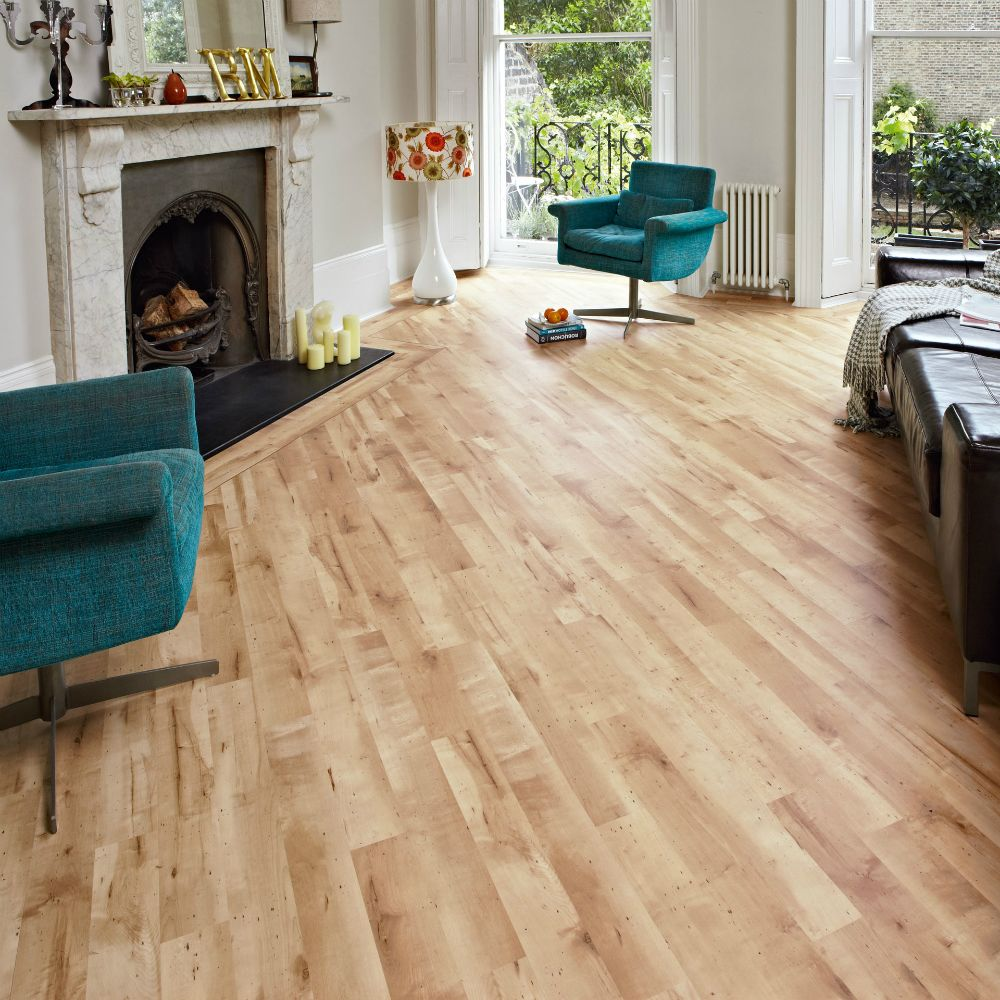 Honey Maple wood look tiles by Karndean Design Flooring in