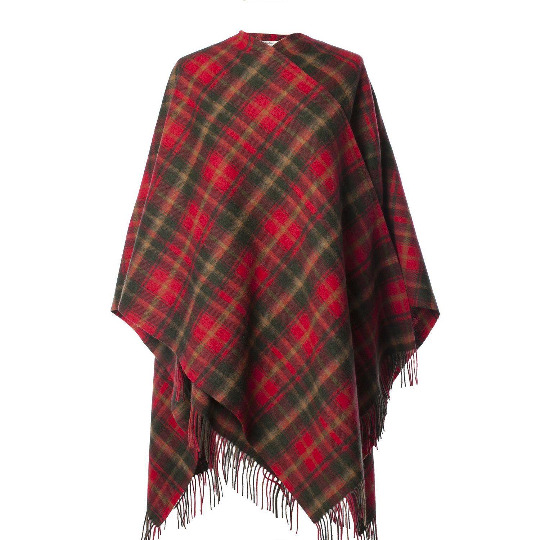 Edinburgh 100/% Lambswool Luxury Scottish Tartan Scarf Dark Maple