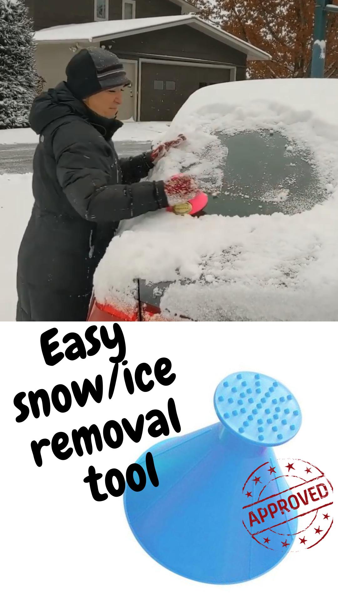 Cone Snow Removal Tool Round Ice Scraper Windshield Ice Scraper for Car Snow Removal
