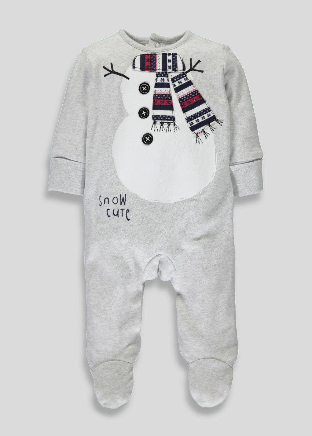 365070eda437 Unisex Christmas Sleepsuit (Newborn-12mnths) - Matalan