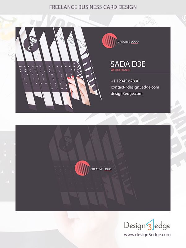 Freelance business card design business cards freelance designer freelance business card design freebies fribly reheart Gallery