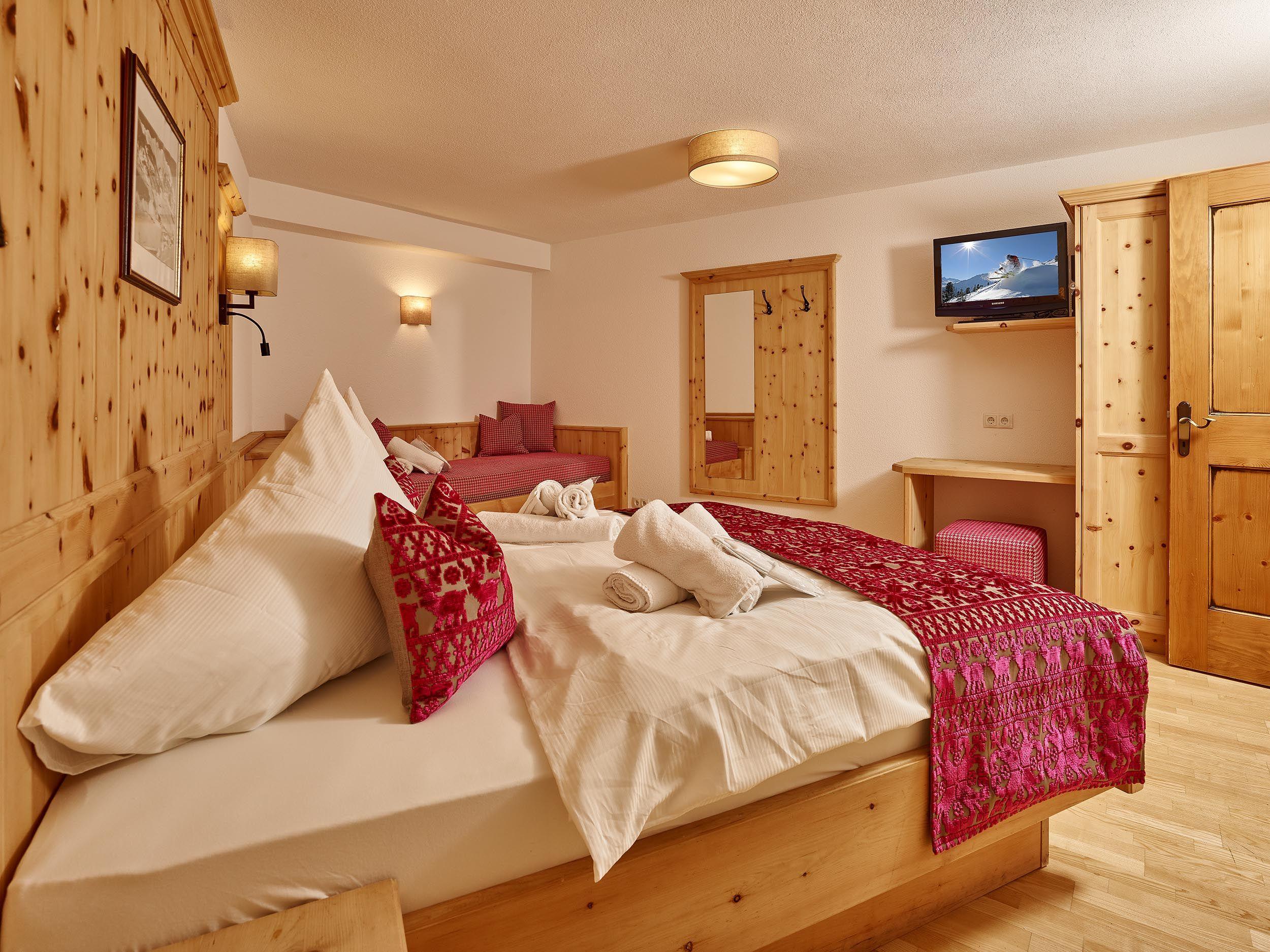 schlafzimmer ferienhaus brunnenkogl für 8 personen in sölden