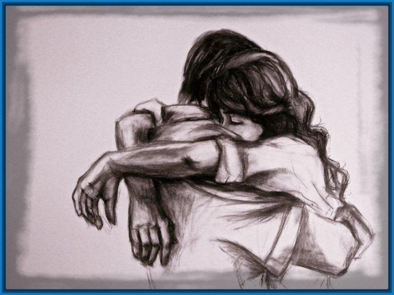 Dibujos De Amor A Carboncillo Dibujos De Novios Bocetos De Parejas Dibujos De Amor