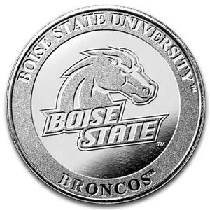 1 Oz Boise State Silver Round 999 Fine Silver Rounds Silver Boise State