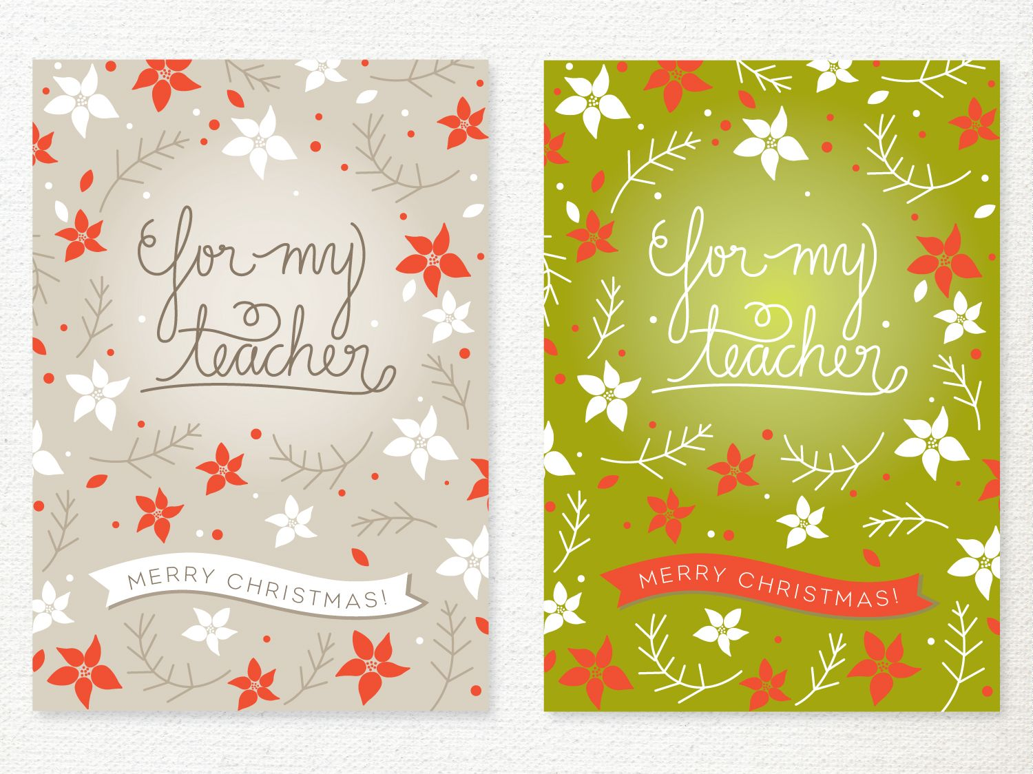 lemon squeezy: Day 11: A Card for Your Teacher | Christmas Vintage ...