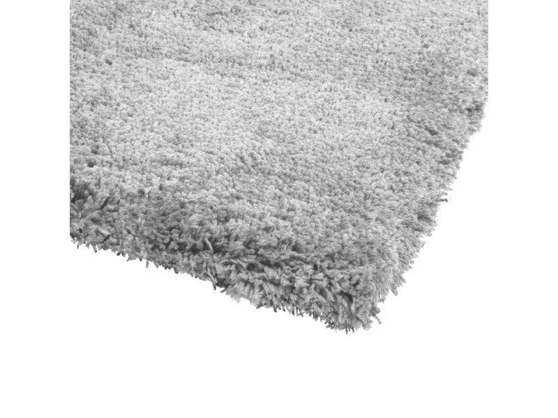 atmosphera tapis doux microfibre gris
