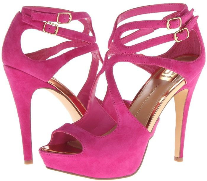 21 Hot Pink Strappy Heels That You Will Love | Pink strappy heels ...