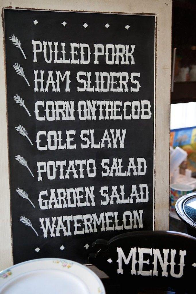 Image result for summer BBQ menu in frame