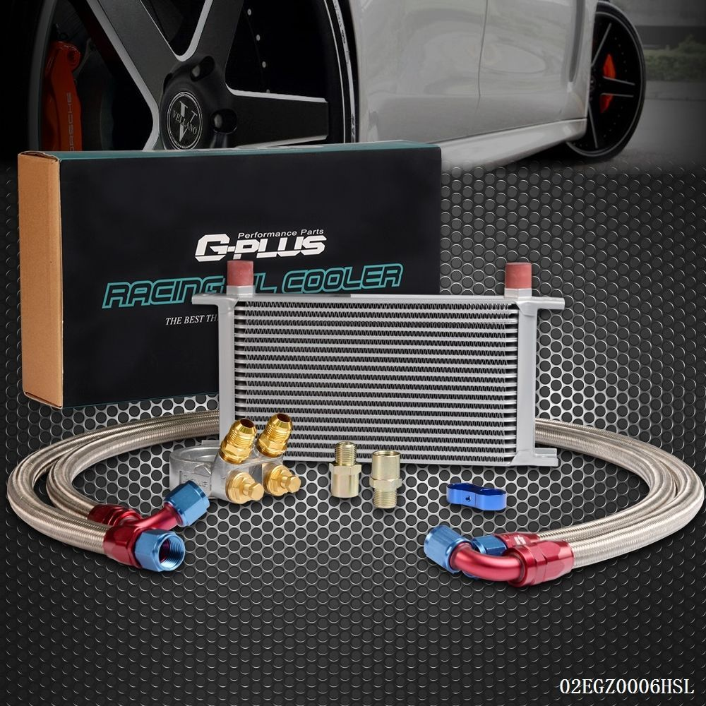 Uk Shipping Gplus 19 Row Thermostat Adaptor Engine Racing Oil Cooler Kit For Car  Truck