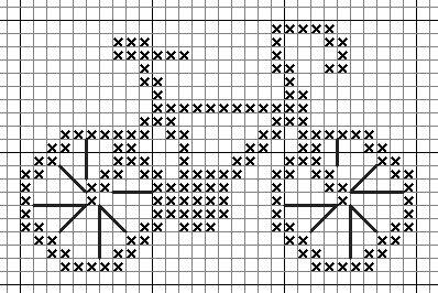 free bicycle cross stitch pattern