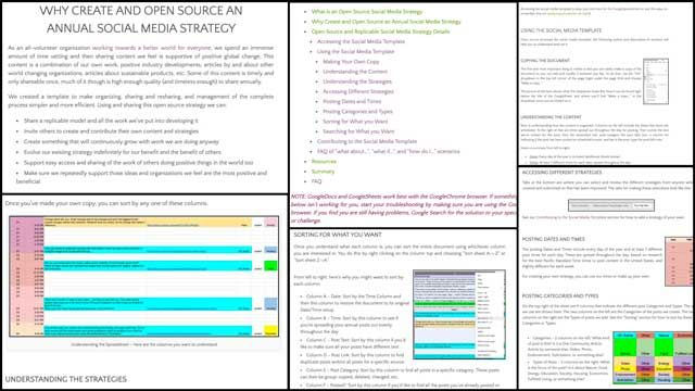 Facilitating Global Eco-balance \u2013 One Community Weekly Progress - open source spreadsheet