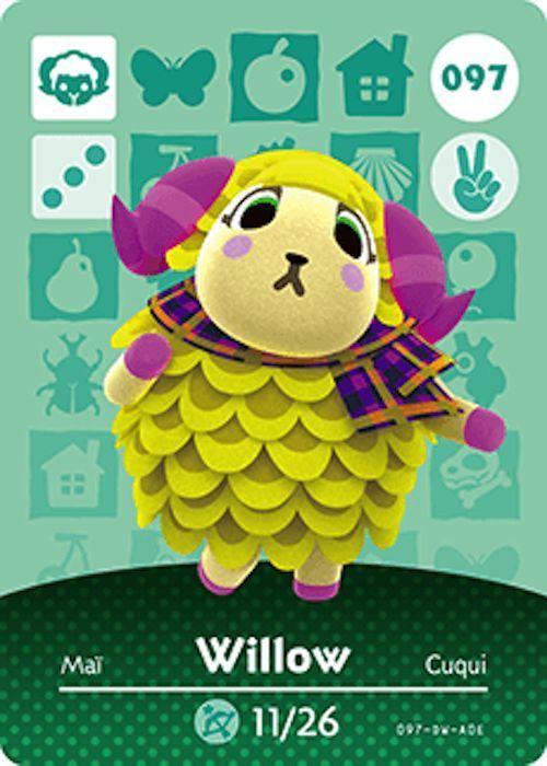 Nintendo Animal Crossing Happy Home Design Willow Amiibo