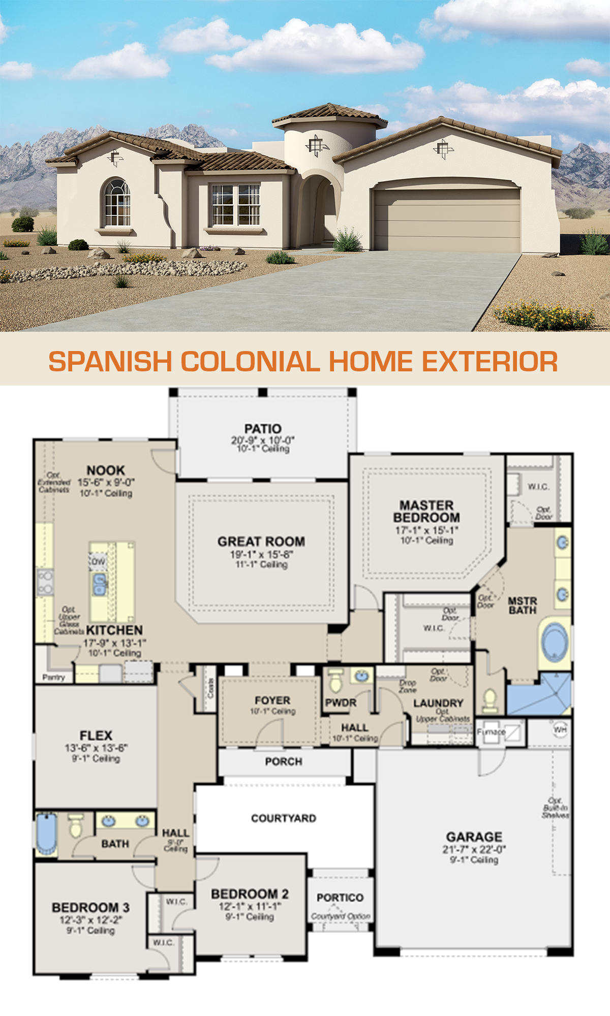 Spanish Colonial Home Exterior Spanish Colonial Homes Courtyard House Plans House Exterior