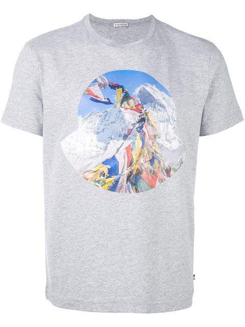 616808d7 Moncler printed front T-shirt | tshirts | Mens tops, Moncler, T shirt