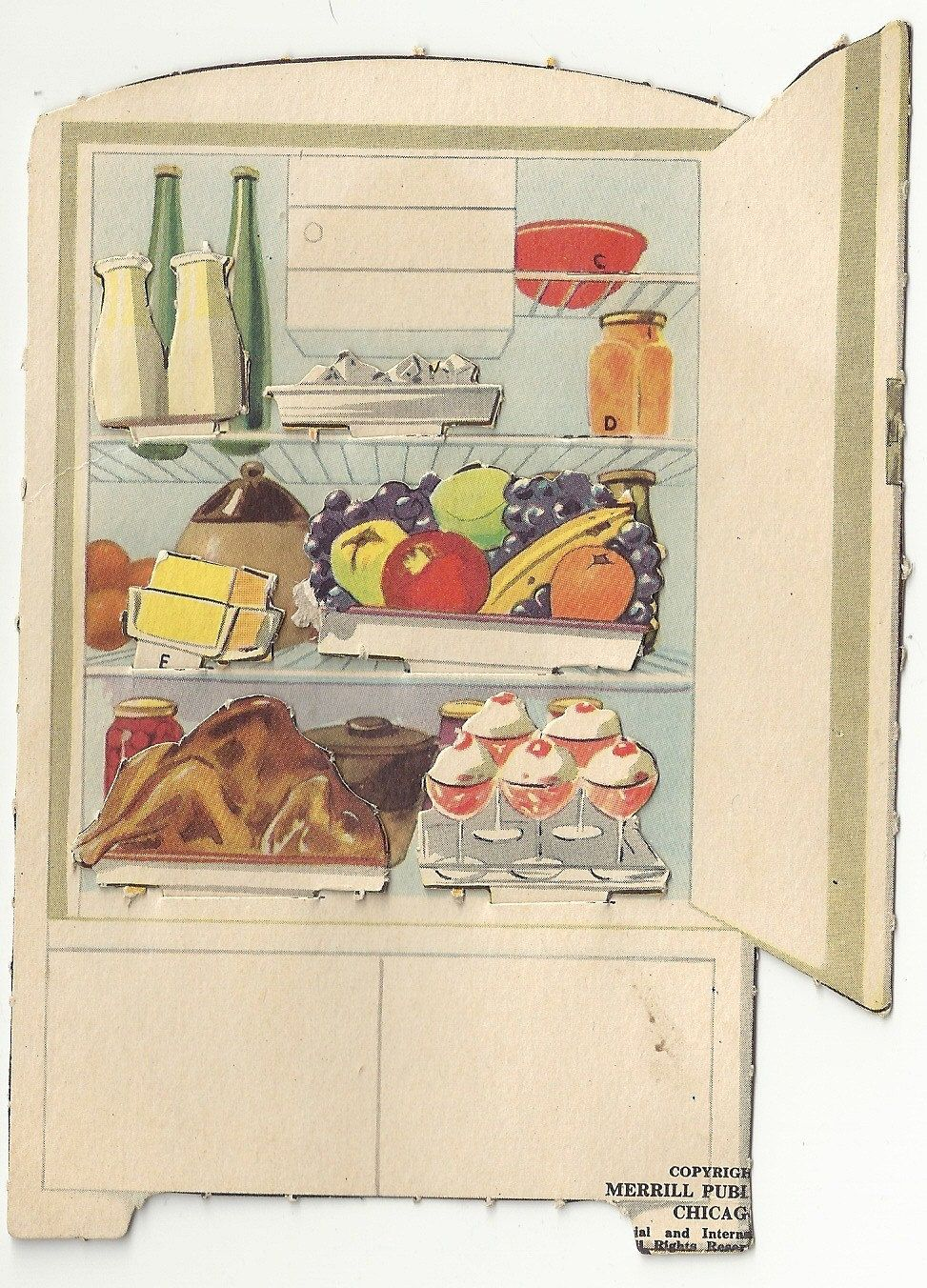 Astounding Paper Cut Outs Refrigerator And Stove Vintage Paper Doll Interior Design Ideas Truasarkarijobsexamcom