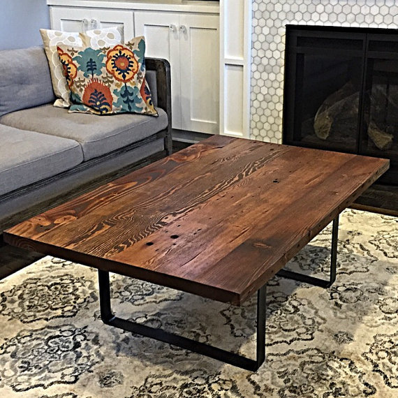 Reclaimed wood coffee table handmade in portland or to for Reclaimed wood portland oregon