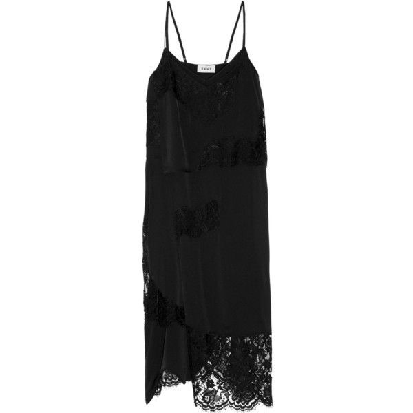 Dkny black silk dress