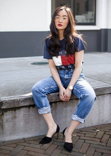 0e94f8c7 How to Wear Loose Jeans Outfit Nowadays (Ferbena Magz) | skin ...