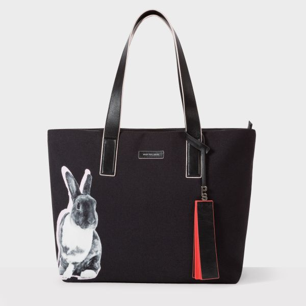 Paul Smith Women's 'Lucky Rabbit' Print Canvas Tote Bag