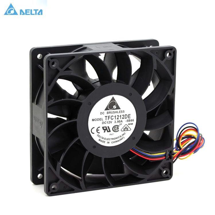 Tfc1212de Delta 120mm Dc 12v 5200rpm 252cfm For Bitcoin Miner