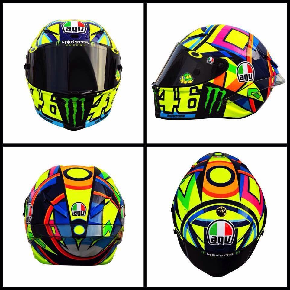 2016 Helmet Valentino Rossi The Many Helmets Pinterest Helmets