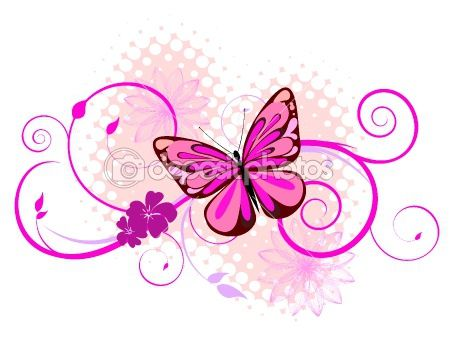 Art Clip Picture Butterfly Drawings | Colorful butterfly | Stock Vector © Andrea Kaulitzki #3143295