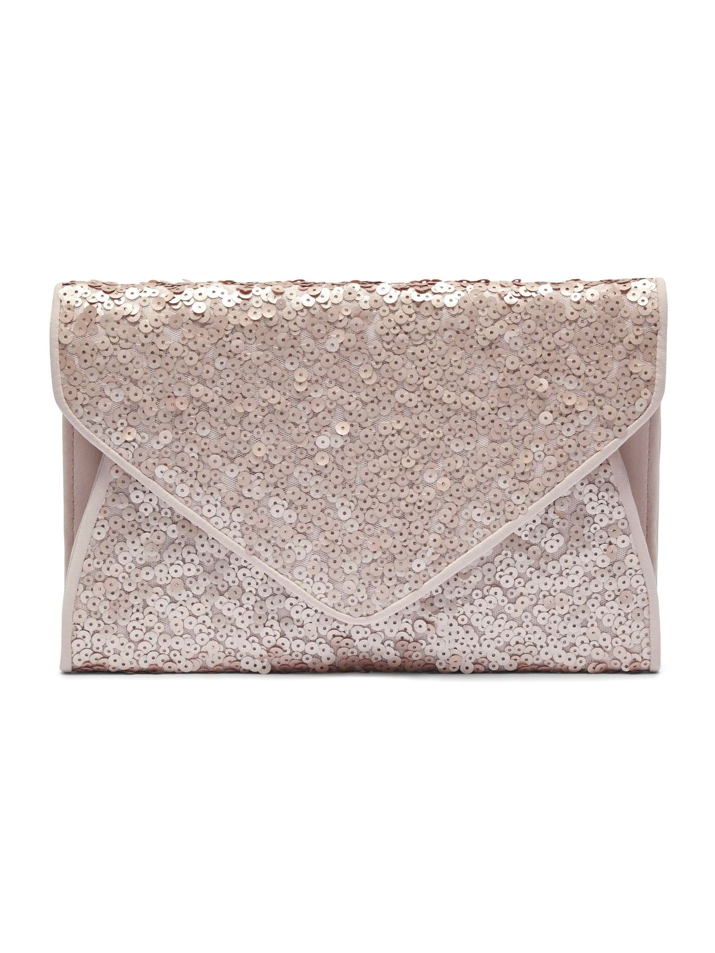 Sequined Bag-Apricot Crush