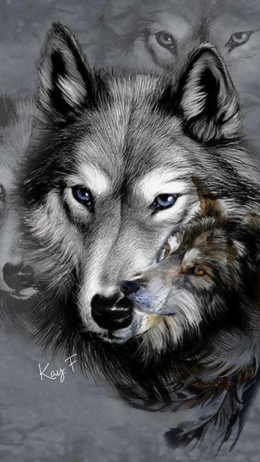 картинки тату волчица с волчатами хотели дома